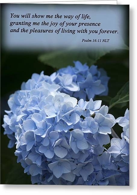 Psalm 16 11 Greeting Card by Inspirational  Designs