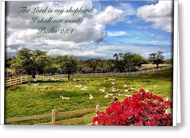 Psalm 23 1 Greeting Card
