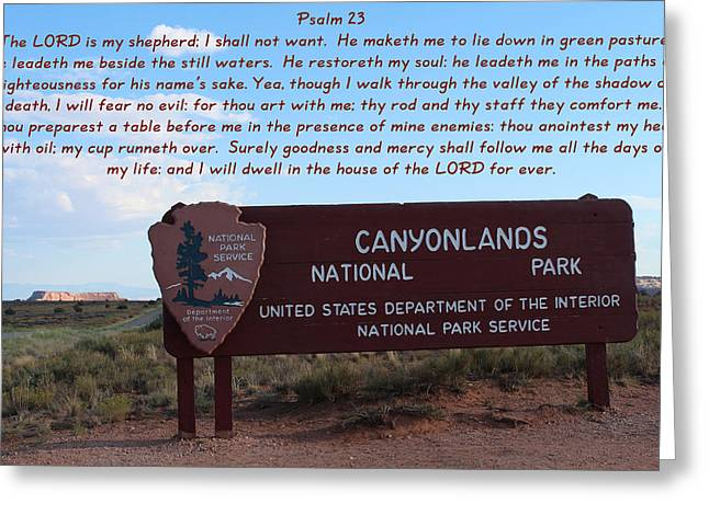 Psalm 23 Canyonlands N P Greeting Card by Nelson Skinner