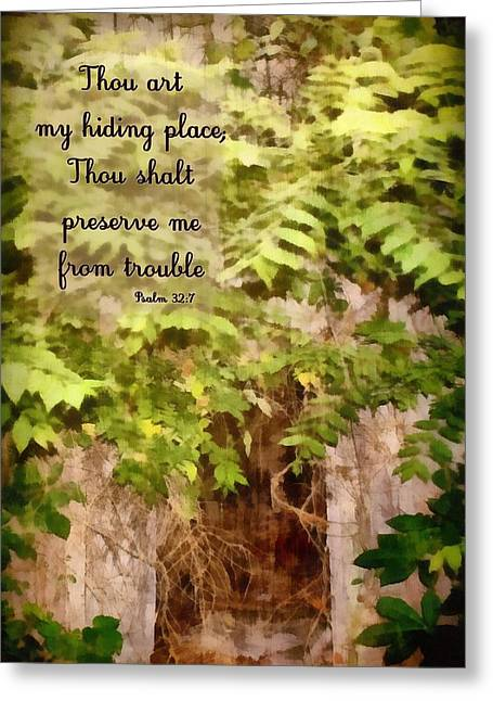 Psalm 32 7 Greeting Card