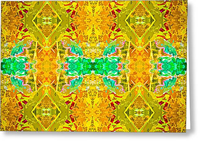 Greeting Card featuring the photograph Psychedelic Diamond by  Onyonet  Photo Studios