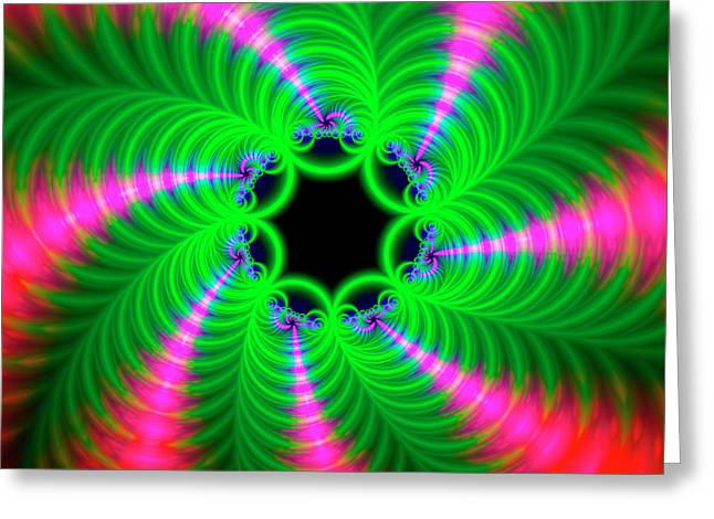 Psychedelic Patterns Greeting Card by Mehau Kulyk