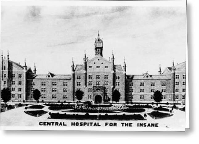 Psychiatric Hospital Greeting Card by Granger