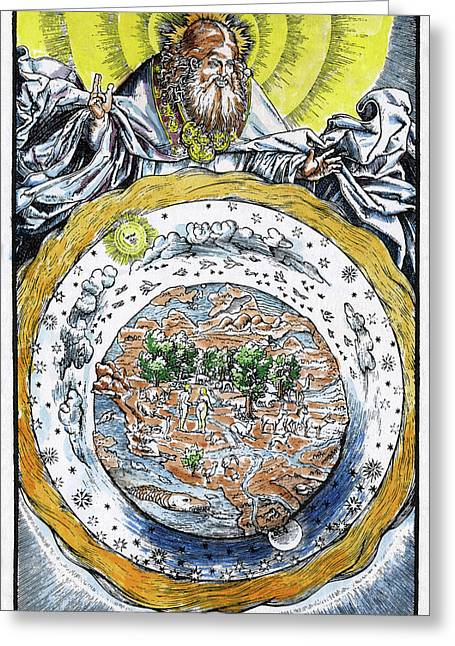 Ptolemaic Universe, 1534 Greeting Card by Granger