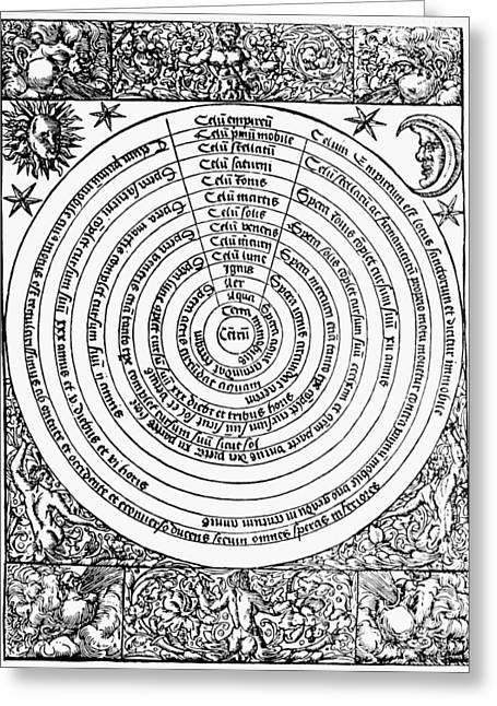 Ptolemaic Universe, 1537 Greeting Card by Granger