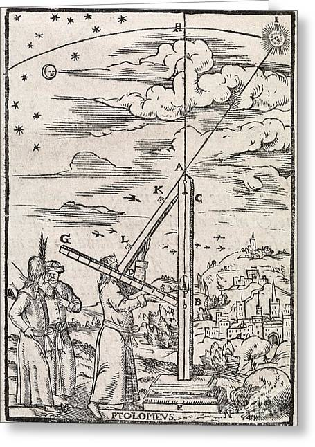 Ptolemys Ruler, 16th Century Artwork Greeting Card by Middle Temple Library
