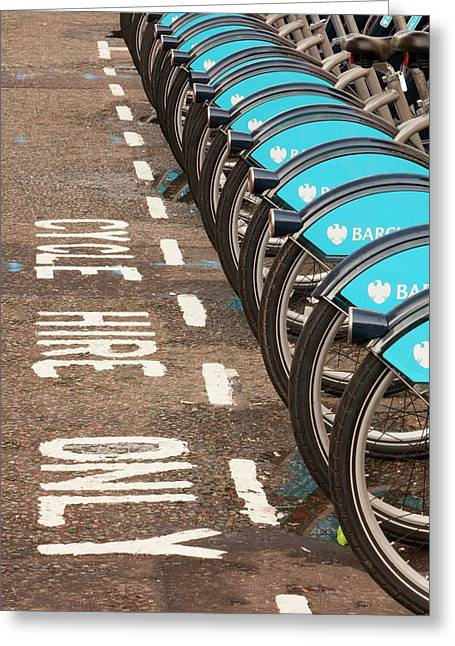 Public Bike Hire Scheme Greeting Card