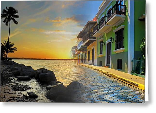 Greeting Card featuring the photograph Puerto Rico Collage 4 by Stephen Anderson