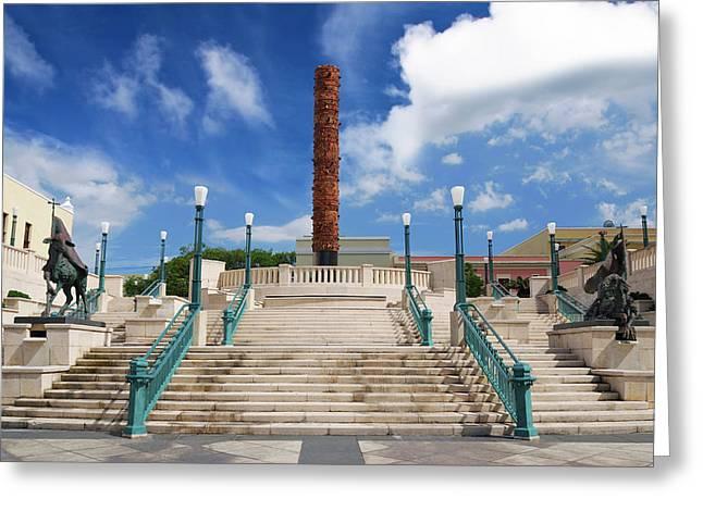 Puerto Rico, San Juan, Plaza Del Quinto Greeting Card by Miva Stock