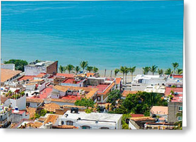 Puerto Vallarta Greeting Card by Aged Pixel