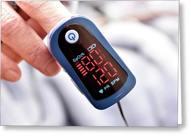 Pulse Oximeter Greeting Card by Dr P. Marazzi/science Photo Library