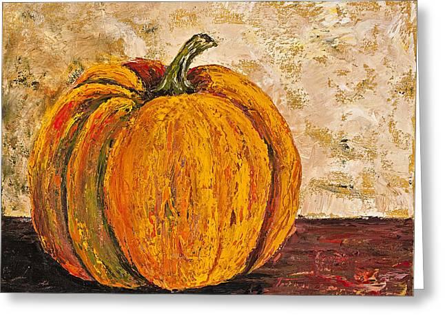 Pumpkin Greeting Card by Darice Machel McGuire