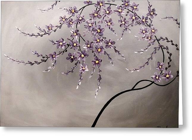 Purple Blossoms  Greeting Card by Tomoko Koyama
