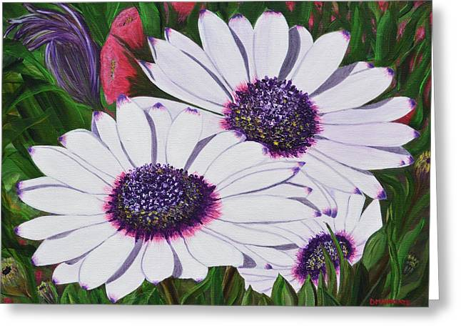 Purple Punch Greeting Card by Donna  Manaraze