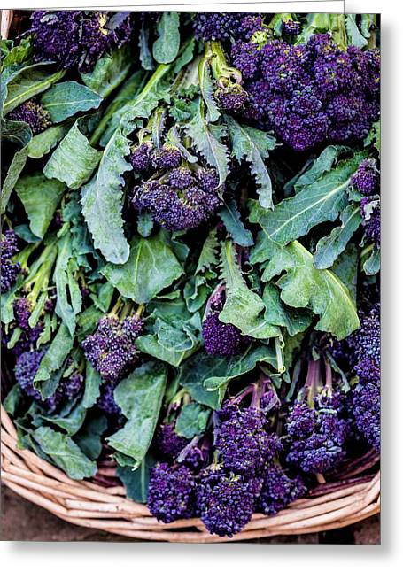 Purple Sprouting Broccoli Greeting Card