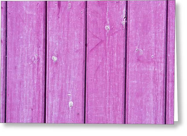 Purple Wood Greeting Card by Tom Gowanlock
