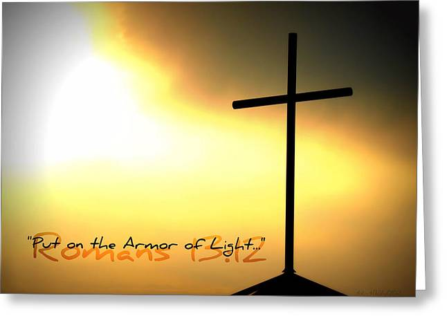 Put On The Armor Of Light Greeting Card by Sharon Soberon