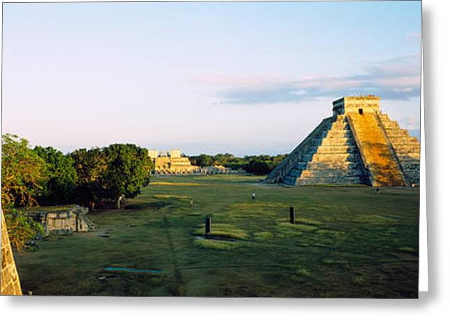 Pyramids At An Archaeological Site Greeting Card