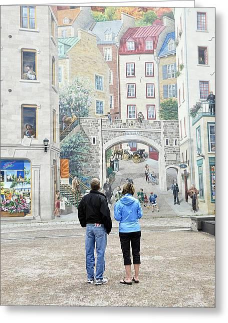 Quebec City Quebec Greeting Card by Wendy Elliott