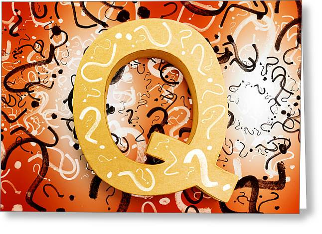 Question Mark Symbols Depicting Puzzle Solving Greeting Card by Jorgo Photography - Wall Art Gallery