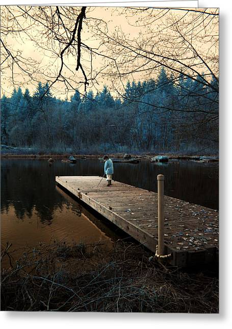 Greeting Card featuring the photograph Quiet Moments by Rebecca Parker