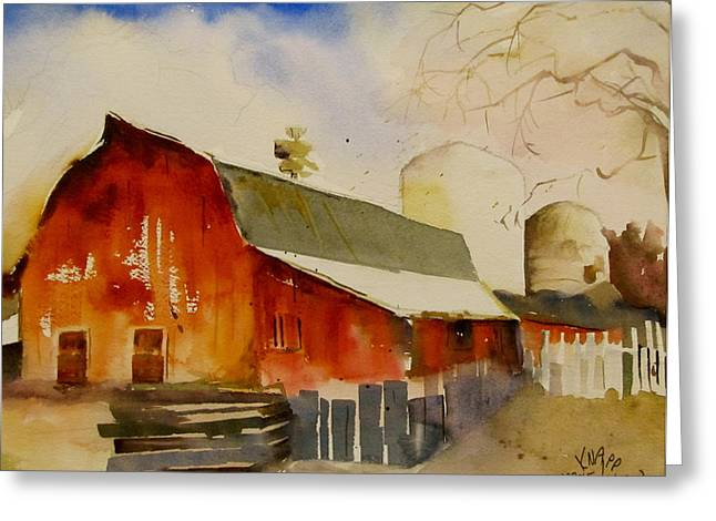 Quiet Red Barn Greeting Card