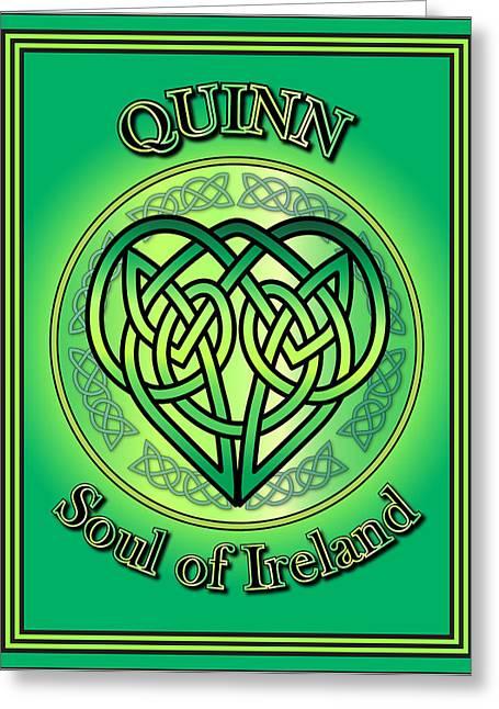 Quinn Soul Of Ireland Greeting Card