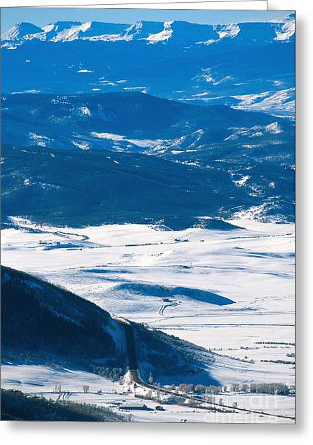 Rabbit Ears Pass Greeting Card by Chris Selby