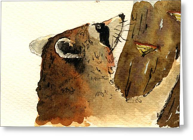 Raccoon On Tree Greeting Card