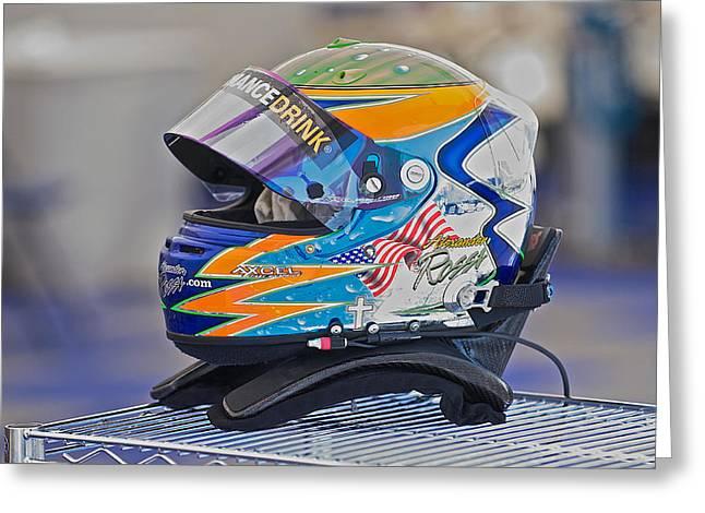 Racing Helmet 2 Greeting Card by Dave Koontz