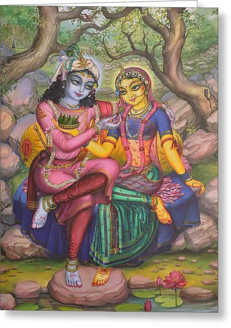 Radha And Krishna Greeting Card