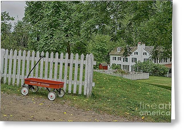 Radio Flyer At Hopewell Furnace 6 Greeting Card