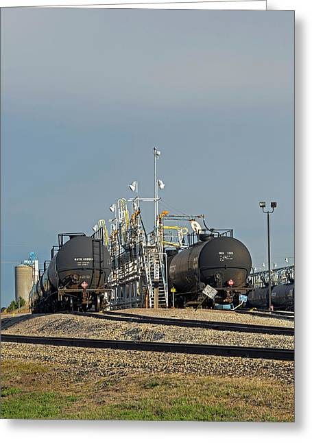 Rail Cars Carrying Lpg Greeting Card by Jim West