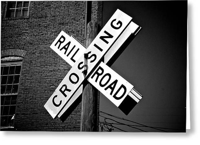 Railroad Crossing Greeting Card by Brandon Addis