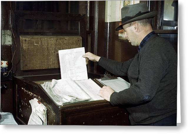Railroad Switch Operator Greeting Card