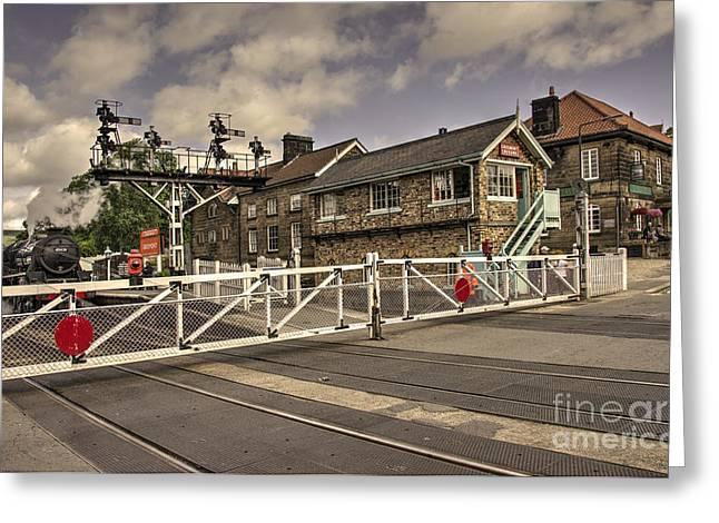 Railway Tavern Grosmont  Greeting Card by Rob Hawkins