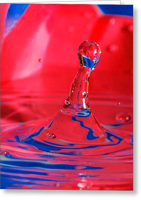 Greeting Card featuring the photograph Rainbow Drop by Peter Lakomy