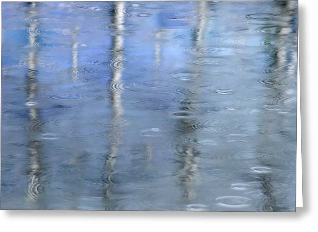 Raindrops On Reflections Greeting Card by KM Corcoran