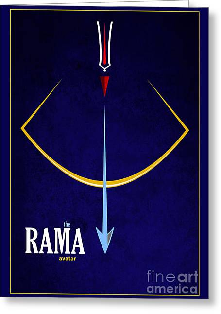 Rama The Avatar Greeting Card by Tim Gainey