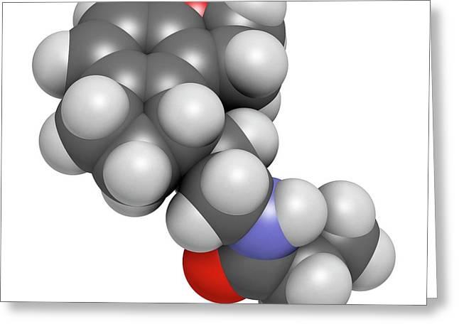 Ramelteon Insomnia Drug Molecule Greeting Card