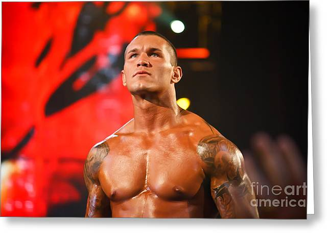 Randy Orton Greeting Card by Wrestling Photos