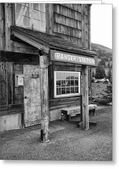 Greeting Card featuring the photograph Ranger Station Mount Rainier National Park by Bob Noble Photography