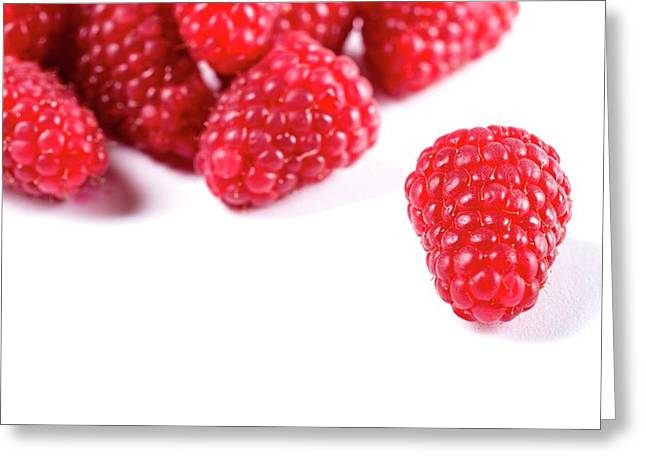 Raspberries Greeting Card by Aberration Films Ltd
