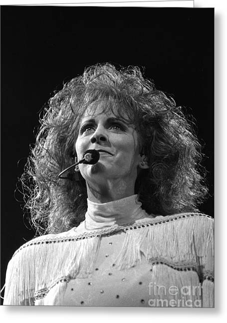 Reba Mcentire Greeting Card by Concert Photos