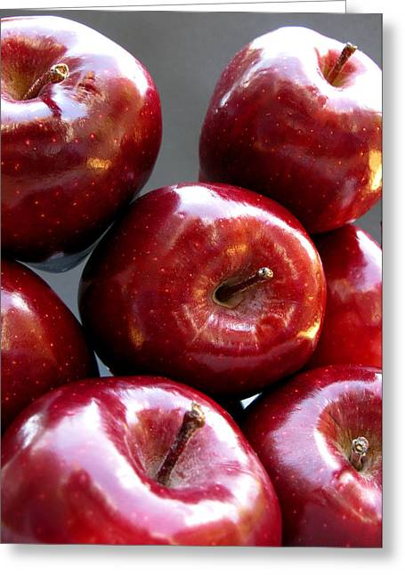Greeting Card featuring the photograph Red Apples by Helene U Taylor