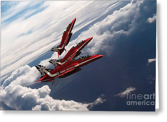 Red Arrows Trio Greeting Card
