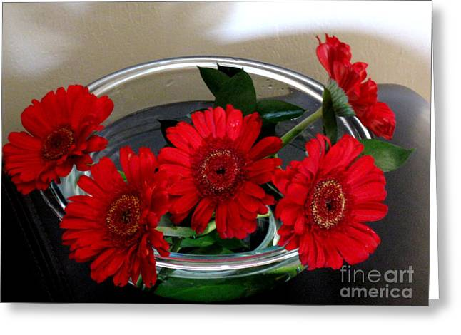Red Flowers. Special Greeting Card