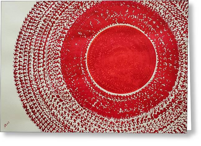 Red Kachina Original Painting Greeting Card