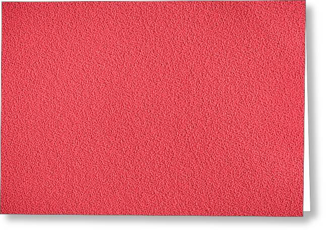Red Material Greeting Card by Tom Gowanlock