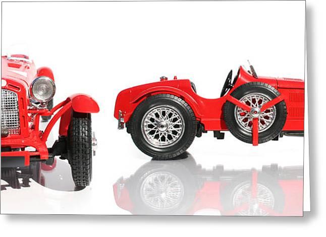 Red Racing Car Replica Greeting Card